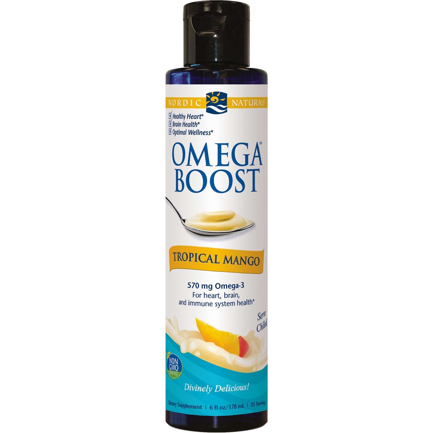 Nordic Naturals Omega Boost - Tropical Mango, 178 ml.-NaturesWisdom