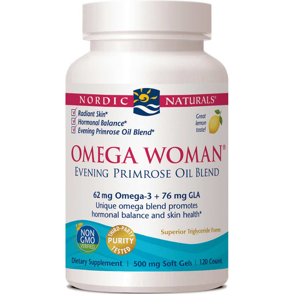 Nordic Naturals Omega Woman 500 mg - Lemon, 120 sgls.
