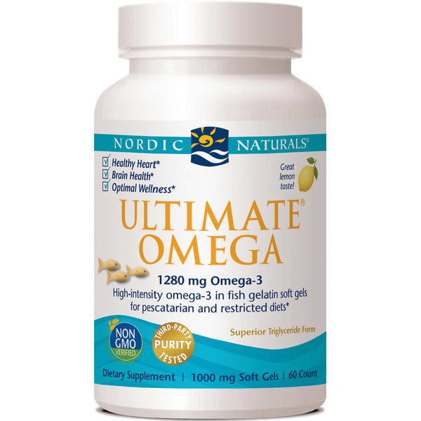 Nordic Naturals Ultimate Omega 1000 mg Fish Gelatin - Lemon, 60 sgls.