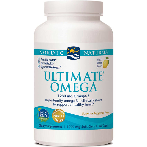 Nordic Naturals Ultimate Omega 1000 mg - Lemon, 180 sgls.