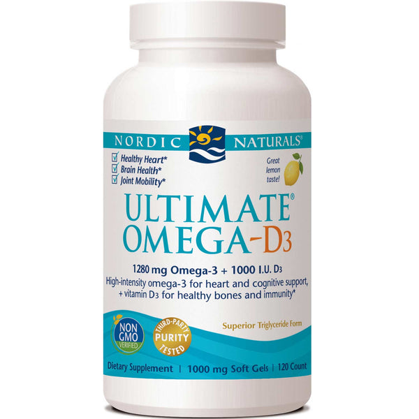 Nordic Naturals Ultimate Omega-D3 1000 mg - Lemon, 120 sgls.