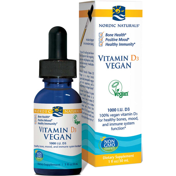 Nordic Naturals Vitamin D3 Vegan - Apple, 30 ml.