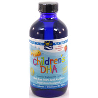 Nordic Naturals Children's DHA Arctic Cod Liver Oil - Strawberry, 237 ml.-NaturesWisdom