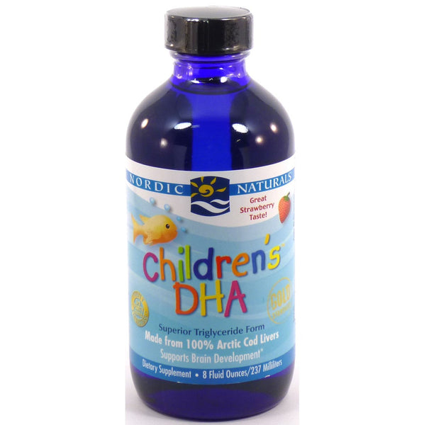Nordic Naturals Children's DHA Arctic Cod Liver Oil - Strawberry, 237 ml.
