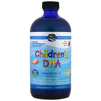 Nordic Naturals Children's DHA Arctic Cod Liver Oil - Strawberry, 473 ml.-NaturesWisdom