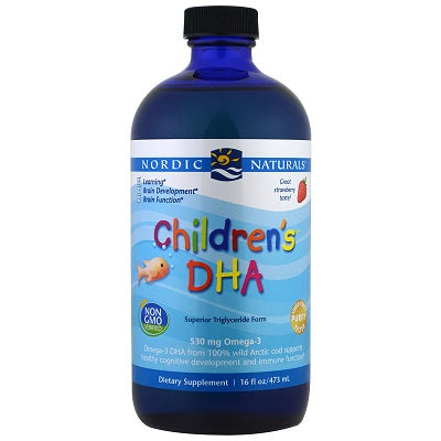 Nordic Naturals Children's DHA Arctic Cod Liver Oil - Strawberry, 473 ml.