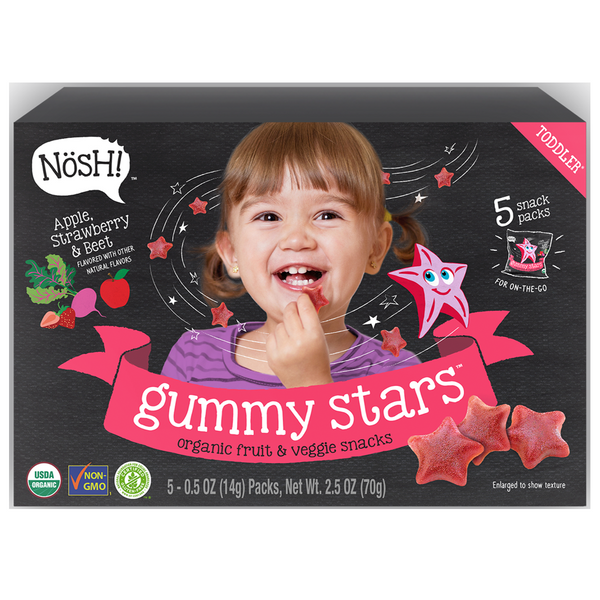 Nosh Gummy Star - Apple Strawberry Beet, 70g