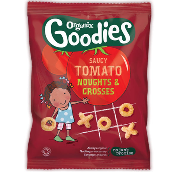 Organix Goodies Organic Saucy Tomato Noughts & Crosses, 15 g.