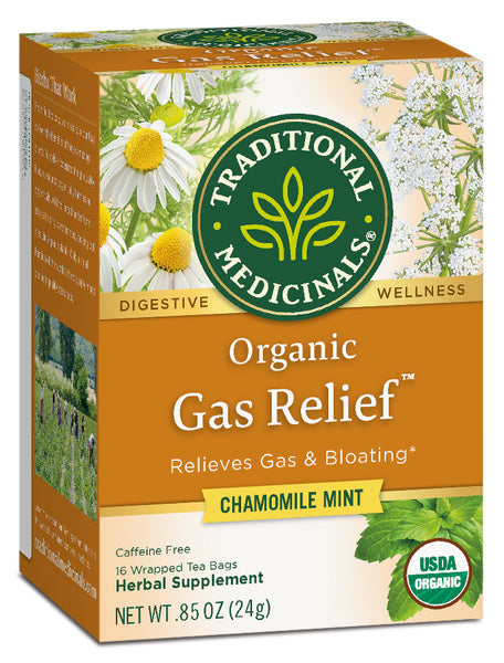 Traditional Medicinals Organic Gas Relief, 16 bags.