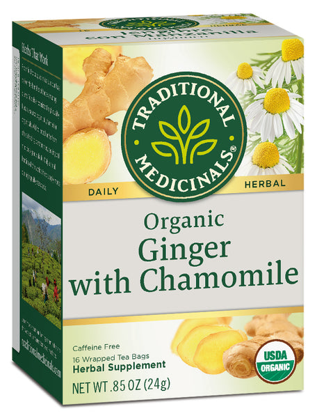Traditional Medicinals Organic Ginger with Chamomile Tea, 16 bags