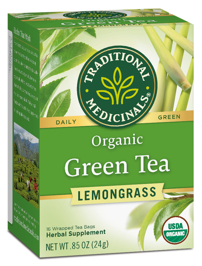 Traditional Medicinals Organic Green Tea With Lemongrass, 16 bags