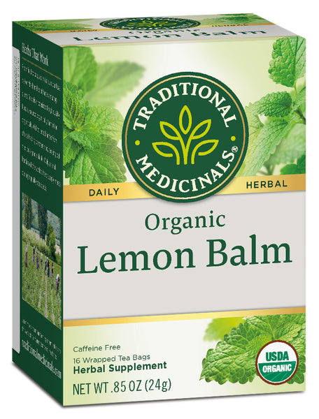Traditional Medicinals Organic Lemon Balm, 16 bags