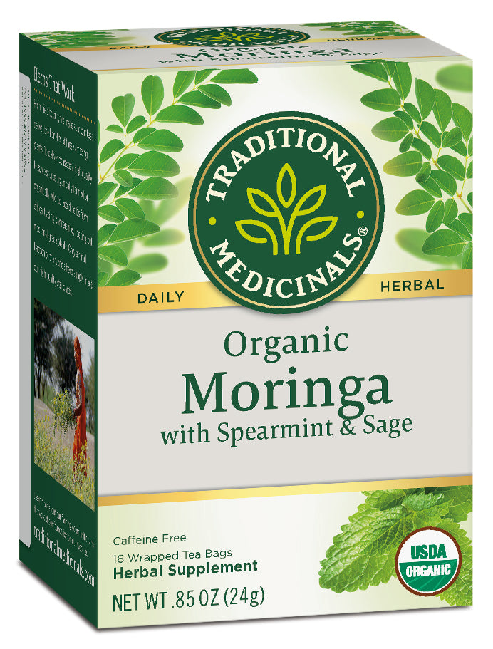 Traditional Medicinals Organic Moringa with Spearmint & Sage, 16 bags