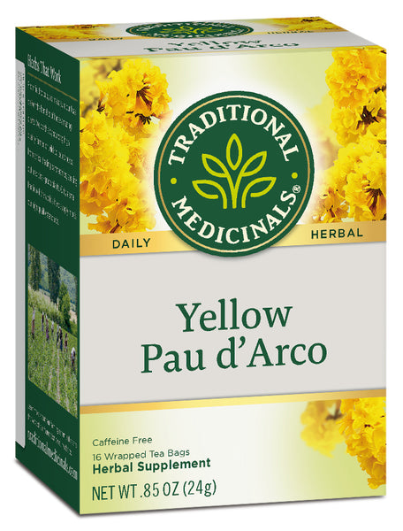 Traditional Medicinals Yellow Pau d' Arco Tea, 16 bags
