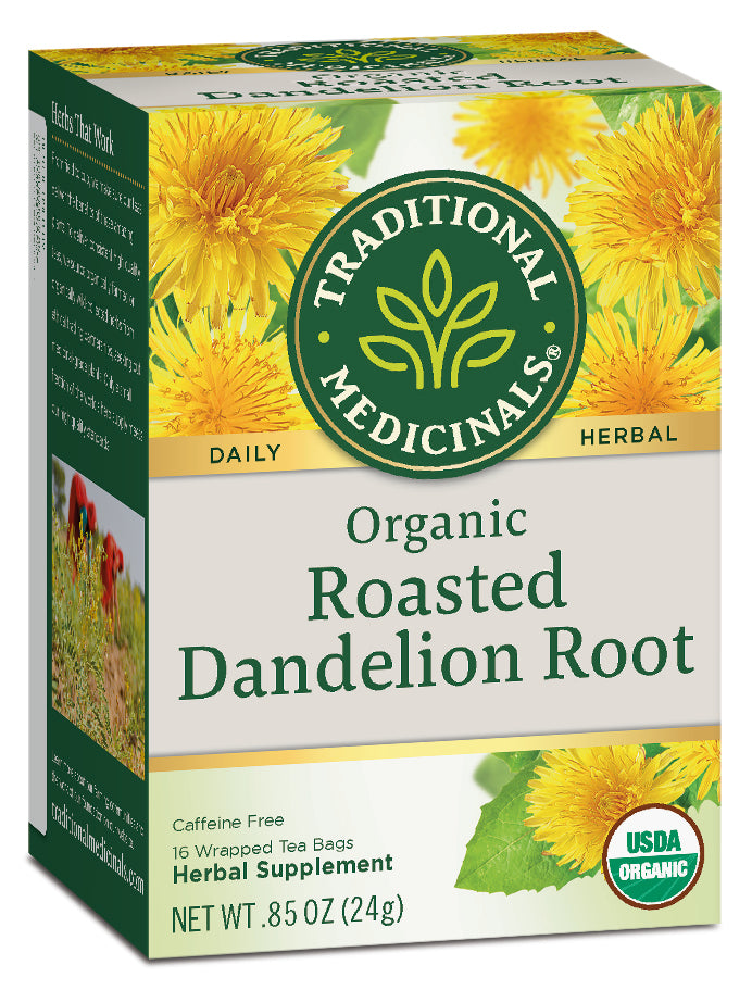 Traditional Medicinals Organic Roasted Dandelion Root Tea, 16 bags