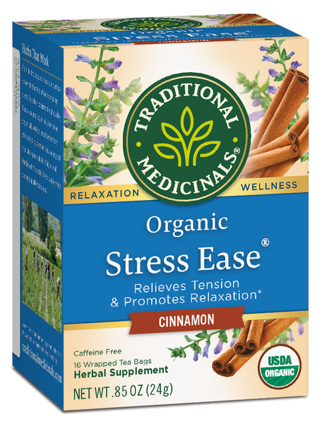 Traditional Medicinals Organic Stress Ease Cinnamon, 16 bags