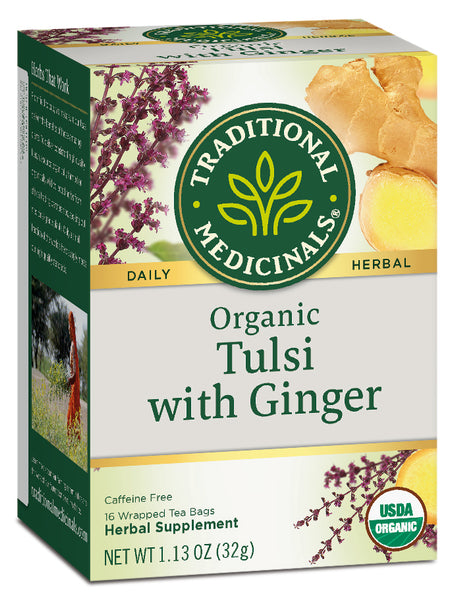 Traditional Medicinals Organic Tulsi with Ginger, 16 bags