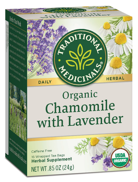 Traditional Medicinals Organic Chamomile with Lavender, 16 bags