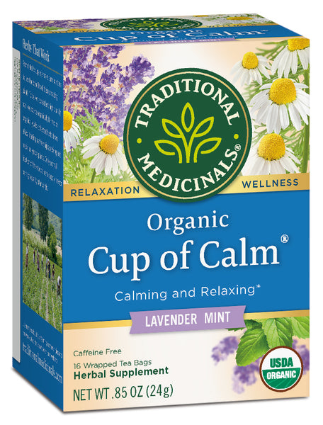 Traditional Medicinals Organic Cup of Calm, 16 bags