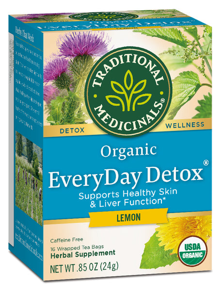 Traditional Medicinals Organic Everyday Detox Lemon Tea, 16 bags
