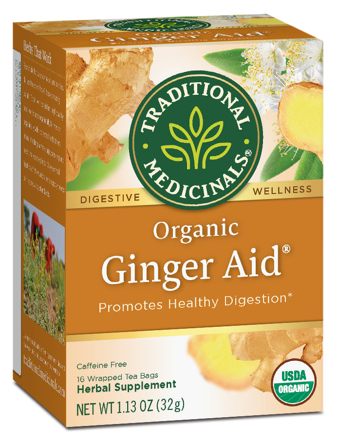 Traditional Medicinals Organic Ginger Aid, 16 bags