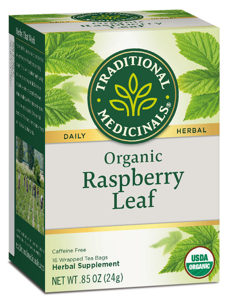Traditional Medicinals Organic Raspberry Leaf Tea, 16 bags