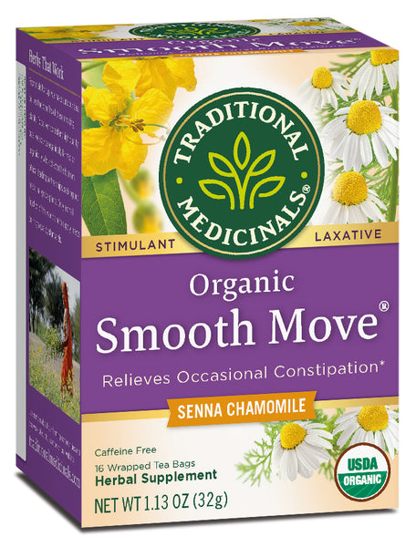 Traditional Medicinals Organic Smooth Move Chamomile Tea, 16 bags