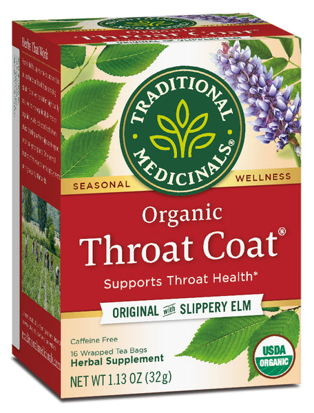 Traditional Medicinals Throat Coat Tea, 16 bags
