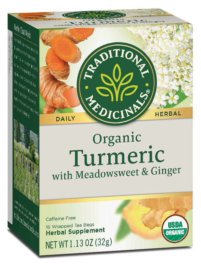 Traditional Medicinals Organic Turmeric with Meadowsweet and Ginger, 16 bags