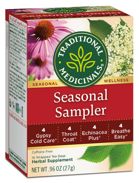 Traditional Medicinals Seasonal Sampler, 16 bags