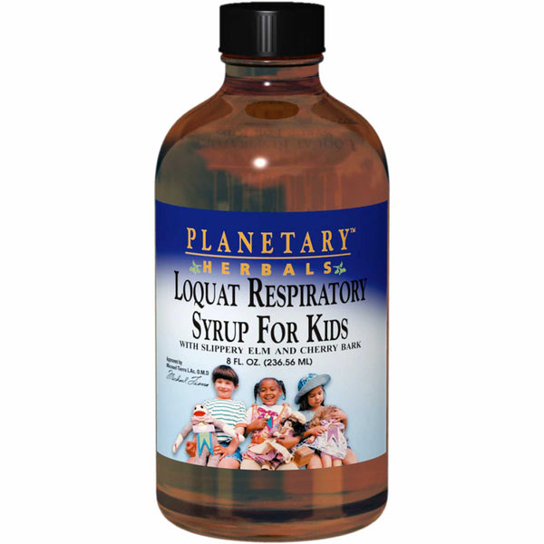Planetary Herbals Loquat Respiratory Syrup for Kids, 236.56 ml.