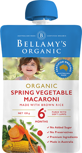 Bellamy's Organic Spring Vegetable Macaroni,120g