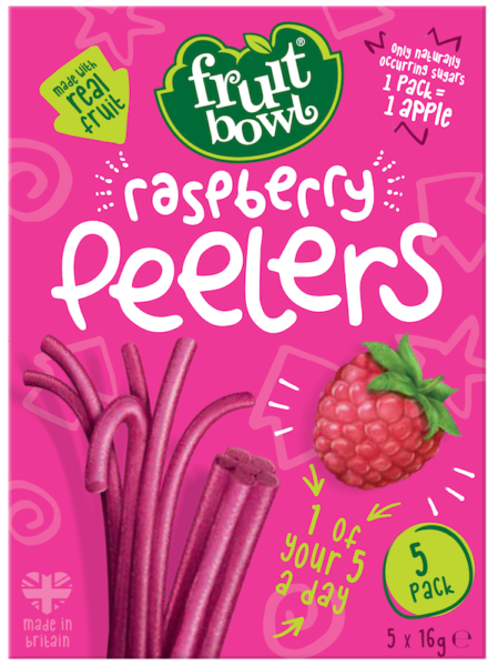 Fruit Bowl Peelers - Raspberry, 5 x 16 g.