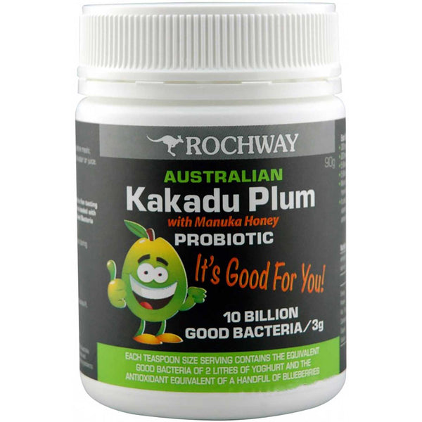 Rochway Australian Kakadu Plum with Manuka Honey Probiotic, Powder, 90 g.