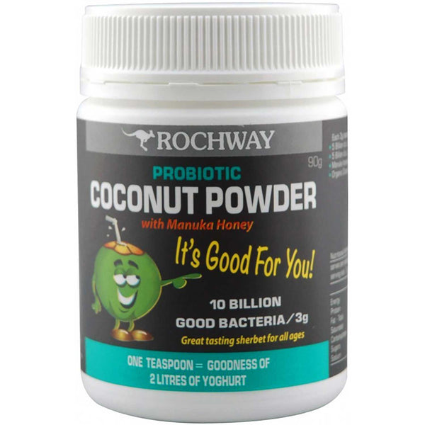 Rochway Coconut Powder w/ Manuka Honey Probiotic, Powder, 90g.