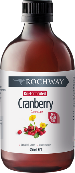 Rochway Organic Cranberry Probiotic Punch, 500ml.