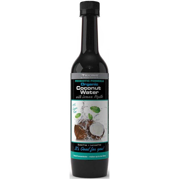 Rochway Organic Coconut Water w/ Lemon Myrtle, 750 ml.