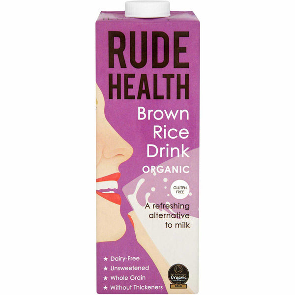 Rude Health Organic Dairy-free Drink - Brown Rice (Gluten Free), 1 L.