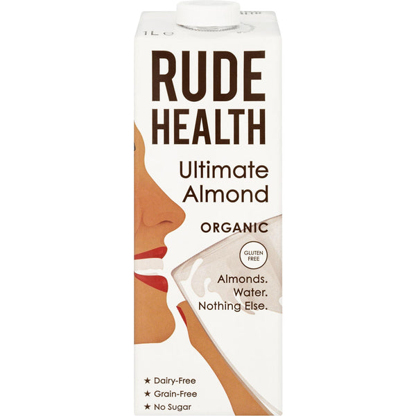 Rude Health Organic Dairy-free Drink - Ultimate Almond (Gluten Free), 1L.