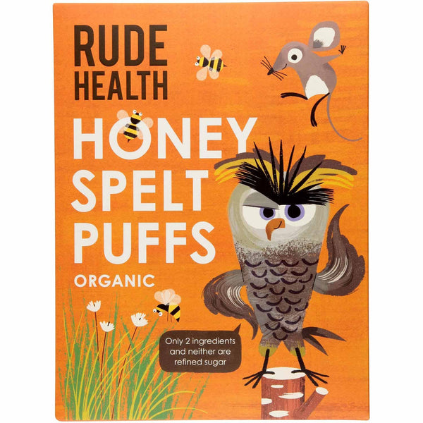 Rude Health Honey Spelt Puffs, 175g (Expiry: July 2020)