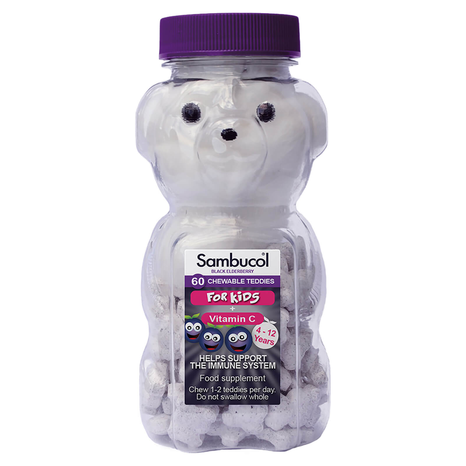 Sambucol Chewable Teddies for Kids (UK Version), 60 chewable. *Authorised Exclusive Distributor