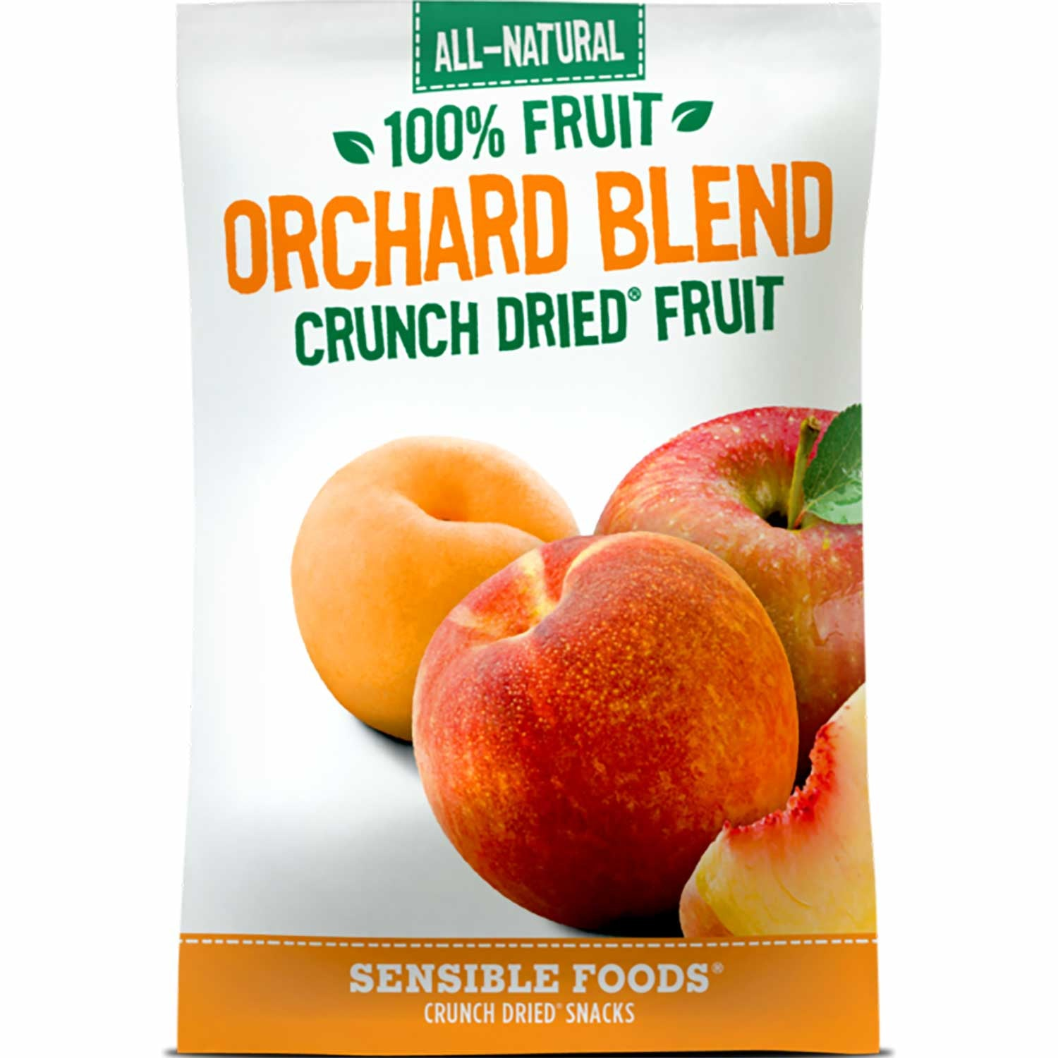 Sensible Foods All-Natural 100% Fruit Orchard Blend Crunch Dried Fruit, 37g.-NaturesWisdom