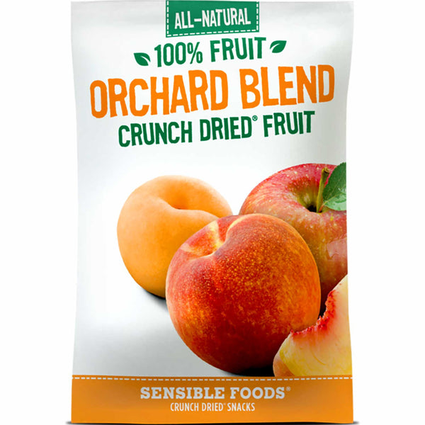 Sensible Foods All-Natural 100% Fruit Orchard Blend Crunch Dried Fruit, 9g.