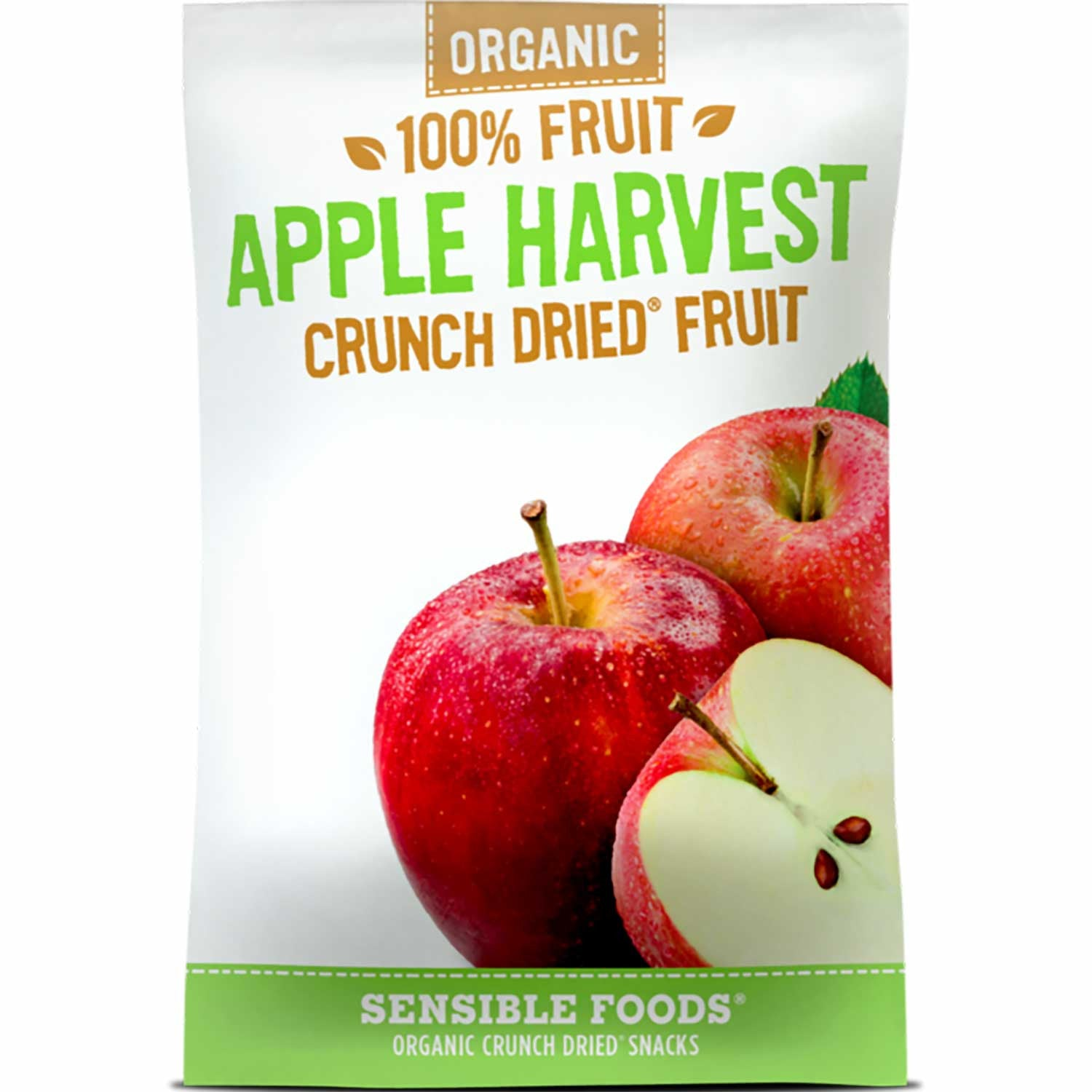 Sensible Foods Organic 100% Fruit Apple Harvest Crunch Dried Fruit, 37g.-NaturesWisdom