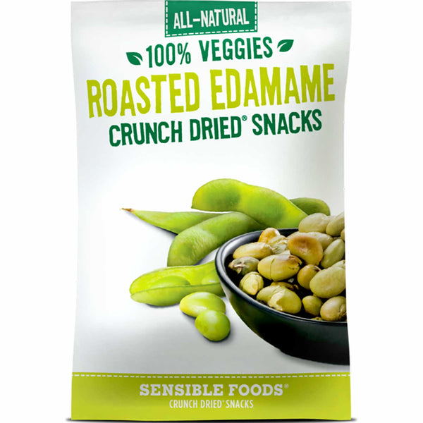 Sensible Foods All-Natural 100% Veggies Roasted Edamame Crunch Dried Snack, 18g.