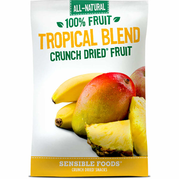 Sensible Foods All-Natural 100% Fruit Tropical Blend Crunch Dried Fruit, 9g.