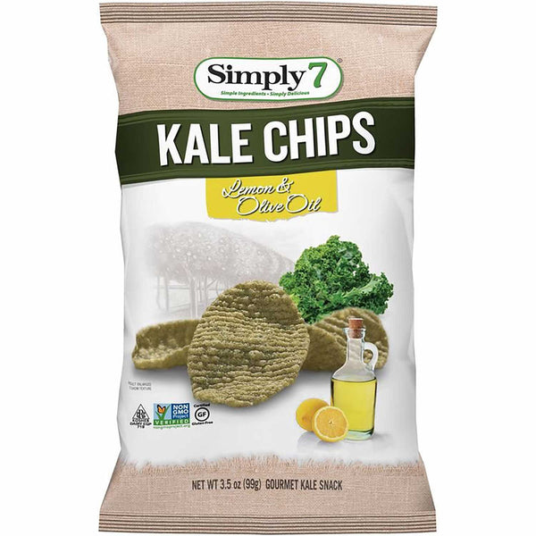 Simply 7 Kale Chips - Lemon & Olive Oil, 99g.