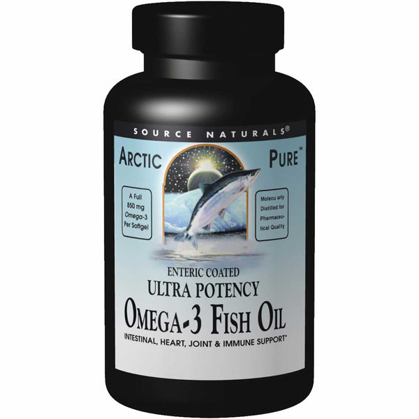 Source Naturals ArcticPure Ultra Potency Omega-3 Fish Oil (Enteric Coated), 60sgls.