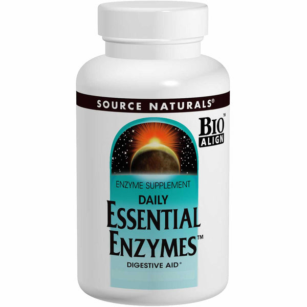 Source Naturals Daily Essential Enzymes, 120 vcaps.