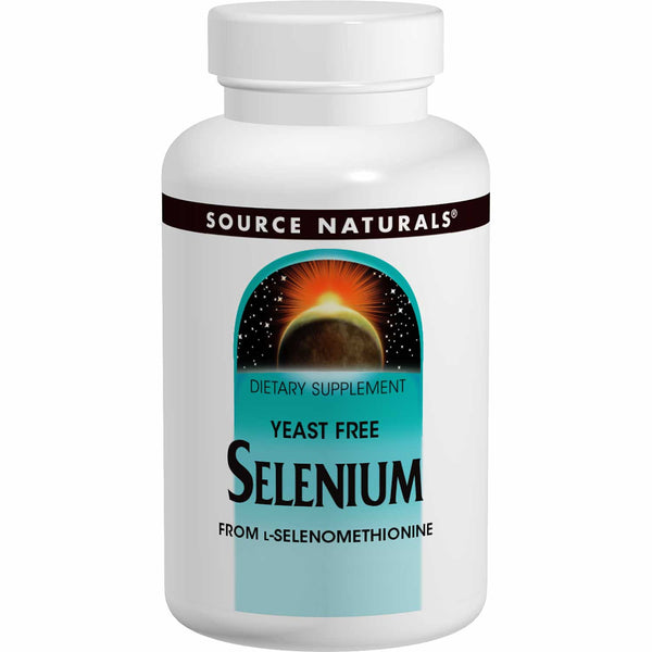 Source Naturals Selenium 200 mcg ( Selenomethionine, Yeast-Free), 60 tabs
